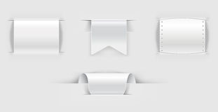 Set of paper llabels Royalty Free Stock Photography