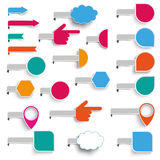Set Paper Markers Royalty Free Stock Image