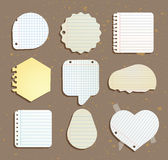 Set of paper notes speech bubbles. Vector illustration Stock Photo