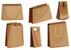 Set of paper packaging packages Royalty Free Stock Photo