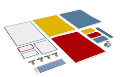 Set of paper and pencil Royalty Free Stock Image