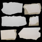 Set paper scraps, cardboard Royalty Free Stock Photos