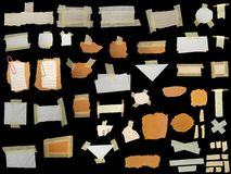 Set paper scraps,cardboard, newspaper Royalty Free Stock Image