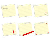 Set of paper sheets Royalty Free Stock Photography