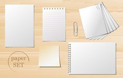 Set of paper sheets Royalty Free Stock Image