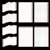 Set of paper sheets Stock Images