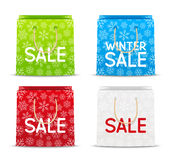 Set of paper shopping bags Royalty Free Stock Images