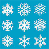 Set paper snowflakes Stock Photo