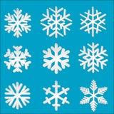 Set paper snowflakes Stock Photo