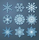 Set of paper snowflakes Royalty Free Stock Photography
