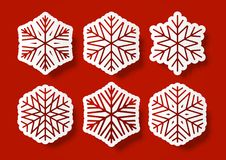 Set of paper snowflakes. For Your design Royalty Free Stock Photography