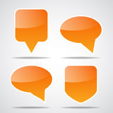 Set of paper speech bubble Royalty Free Stock Photography