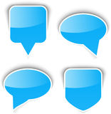 Set of paper speech bubble Stock Image