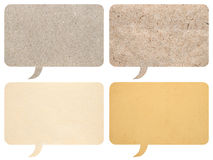 Set of paper speech bubbles. Isolated on white background Stock Photography