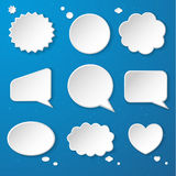 Set of paper speech bubbles Royalty Free Stock Image