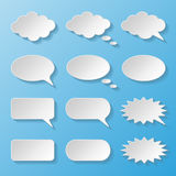 Set of paper speech bubbles Stock Photos