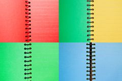 Set of paper spiral notebooks Stock Image