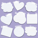 Set of paper stickers with tape Stock Image