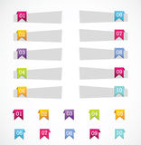 Set of Paper Tag Labels Royalty Free Stock Photos