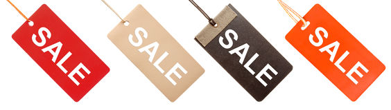 Set of paper tags Royalty Free Stock Images