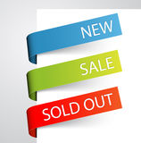 Set of paper tags Royalty Free Stock Photography