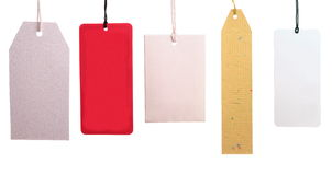 Set of paper tags Stock Images