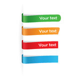 Set of paper tags for any items Royalty Free Stock Photography