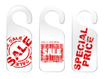 Set of paper tags for sale Royalty Free Stock Photo
