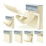 Set of paper tear-off calendars Royalty Free Stock Photos