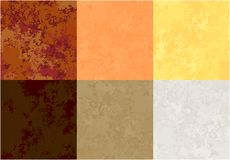 Paper texture warm. Set of paper textures of various colors, warm solar royalty free illustration