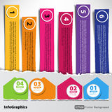 Set of paper with torn edges for infographic Stock Images