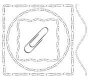Set of paperclip borders and frames Royalty Free Stock Photos