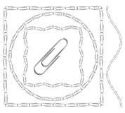 Set paperclip ramy i granicy Zdjęcia Royalty Free