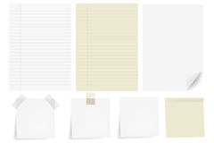 Set Papers Stock Images