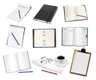 Set of papers and notepads. Royalty Free Stock Images