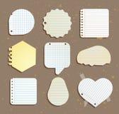 Set papier zauważa mowa bąble również zwrócić corel ilustracji wektora Zdjęcie Stock