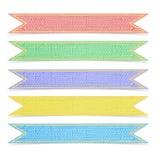 Set Papierfarbbänder einer fünf Maulbeere Lizenzfreie Stockfotos