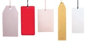 Set Papiermarken Stockbilder