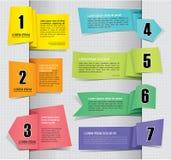 Set Papiermarken-Kennsätze lizenzfreie abbildung