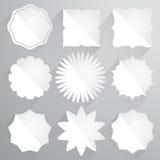 Set papierowe etykietki w rocznika stylu Ilustracja Wektor