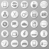 Set papierowe ikony. Wektorowa ilustracja. Obrazy Stock