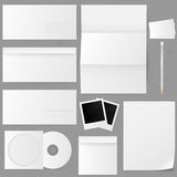 Set papierowe koperty. Wektorowa ilustracja. Obrazy Stock