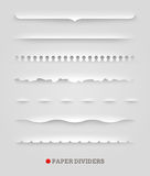 Set papierowi dividers Fotografia Royalty Free