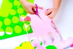 Set papierowi jajka, rzemiosła z dziećmi, Fotografia Stock