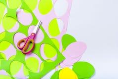 Set papierowi jajka, rzemiosła z dziećmi, Obrazy Stock