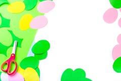 Set papierowi jajka, rzemiosła z dziećmi, Fotografia Royalty Free