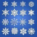 Set papierowi płatki śniegu royalty ilustracja