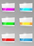 Set papierowi sztandary z faborkiem Zdjęcia Royalty Free