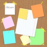 Set papiery przyczepiający i dołączający deska royalty ilustracja