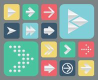 Set of papper arrow icons Stock Image